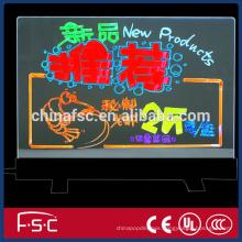 Customized indoor or out door desktop double transparent fluorescent board