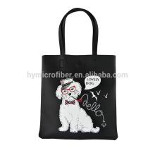 High quality logo printed women leather bag
