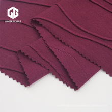 65/35 TR Jacquard Jersey Simple Tissu Polyester Rayonne
