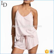 En gros Nouvelle Arrivée D'été sexy vêtements de nuit femmes coton pyjamas