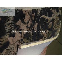 Schwamm und gedruckte künstliche Wildleder gebundene Stoff für Kissen