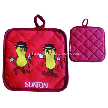 Promotional Pot Holder With Logo Printed - Red