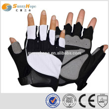 Sunnyhope new products custom fingerless weight lifting gloves