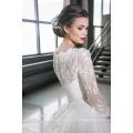 Dernières robes Alibaba Elegant A Line Robes de mariée Vestidos de Novia à manches longues 2016 LWA06