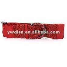 Уникальный красный женский эластичный кожаный пояс