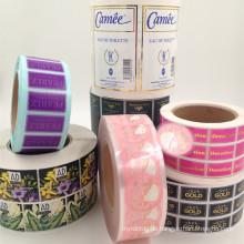 viele Arten von hochwertigen kosmetischen Label mit niedrigen Fabrikpreis