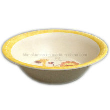 Round Kids Melamime Bowl with Logo (BW7205)