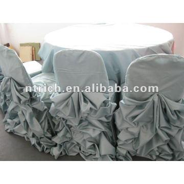 Roupas de cetim com babados projeto, tampa de mesa, toalhas de mesa de casamento