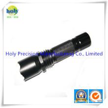 CNC Machining Aluminum Flashlight Tube for Flashlight or Electric Torch