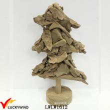 Piezas de abeto de árbol de Navidad Decoración casera rústica al por mayor de madera europea