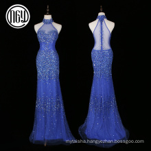 Avant-garde elegant tropical crystal diamond bling ladies evening dresses