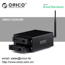 ORICO 3529U3RF 2bay Wifi 12tb NAS 3.5 '' HDD Recinto / centro de medios de la nube casera sin hilos
