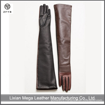 Ladies Western Elbow Long Driving Leather Gloves