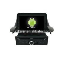Quad core! Android 6.0 voiture dvd pour MEGANE 2014 avec écran tactile capacitif de 9 pouces / GPS / lien miroir / DVR / TPMS / OBD2 / WIFI / 4G