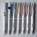 Hübsche weiße Kunststoff Werbeartikel Kugelschreiber mit Logo (P1001A)
