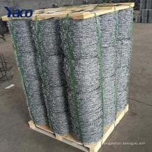 Alibaba China 1.8mm 2.0mm 2.5mm galvanizado fio de arame farpado torcido cerca por rolo