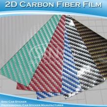 Karbon Fiber 2D araba filmi renkli parlak otomatik etiket kağıdı