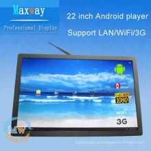 21,5 polegadas android 4.4 exibição de publicidade