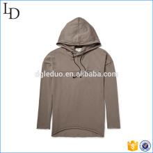 Les hommes hoodies long t-shirt ventilent la robe douce pour les hommes