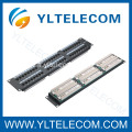 2U 19 pouces 48port(6*8) type de Patch Panel CAT 5e et Cat.6
