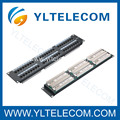 2U 19inch 48port(6*8) Patch Panel Cat.5e and Cat.6 type