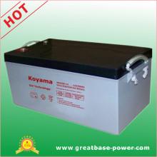 Larga vida útil de la batería de gel de ácido silícico 250ah 12V
