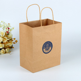 Wholesale Twisted Gusset Kraft Paper Bag