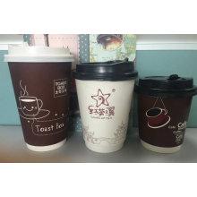 Coupe de café chaud à double paroi
