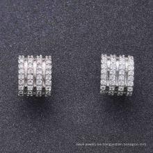 Accesorios lindo joyería diseño simple pendiente del perno prisionero para las mujeres