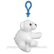 Рекламные фаршированные белый медведь брелок плюшевый белый медведь брелок