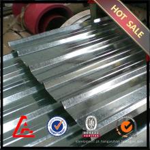 Chapa de aço galvanizado ondulado com preço / chapa de aço galvanizado / cobertura de metal