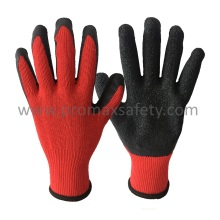 Gants en tricot Red Tc de calibre 10 avec rinçage noir Latex Palm Coated