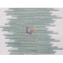 Light Blue Long Strip Glass Mosaic Tile (CFS601)