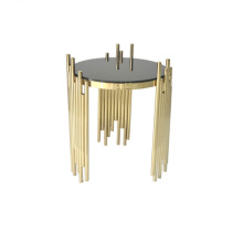 glass top coffee table gold metal side table