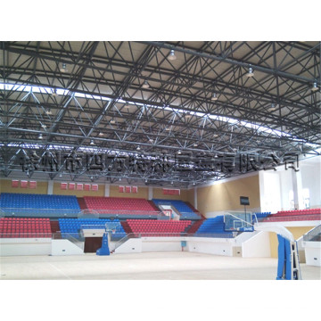 Prefabricated Space Frame Indoor Gym Bleachers