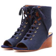 Великобритания последние женщины мода Клин обувь новые современные сандалии