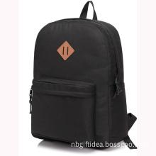 20L waterproof Boy School Backpack Black Bag