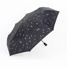 A17 5 fold umbrella no drip umbrella auto open umbrella with raindrop printing
