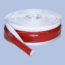 Manchon en fibre de verre ignifuge en caoutchouc silicone