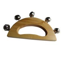 FQ marque bruit maker musique nouvelle main en bois winkel bébé peluche poignet hochet jouet