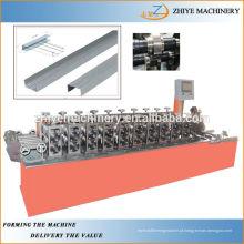 Omega perfil rolo formando máquina CU purlin canal treliça furring frio formando máquina