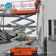 Tipo de elevación de tijera Ascensor de elevación hidráulica de trabajo aéreo, plataforma de trabajo de elevación automática