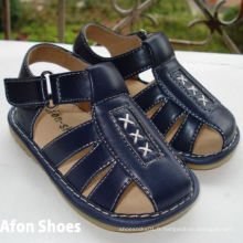Navy Sandals Squeaky Baby Boy