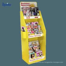 Tragbarer einzelner Buch-Ausstellungsstand des Papps, Gestell-faltende tragbare Buch-Anzeige, Wiederverkäufer-Kleinhandel-tragbarer Buch-Ausstellungsstand