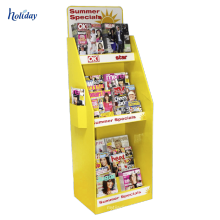 Cardboard Portable Single Book Display Stand, Rack Folding Portable Book Display,Reseller Retail Portable Book Display Stand