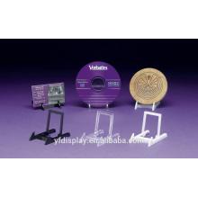 Support acrylique d'affichage de CD adapté aux besoins du client