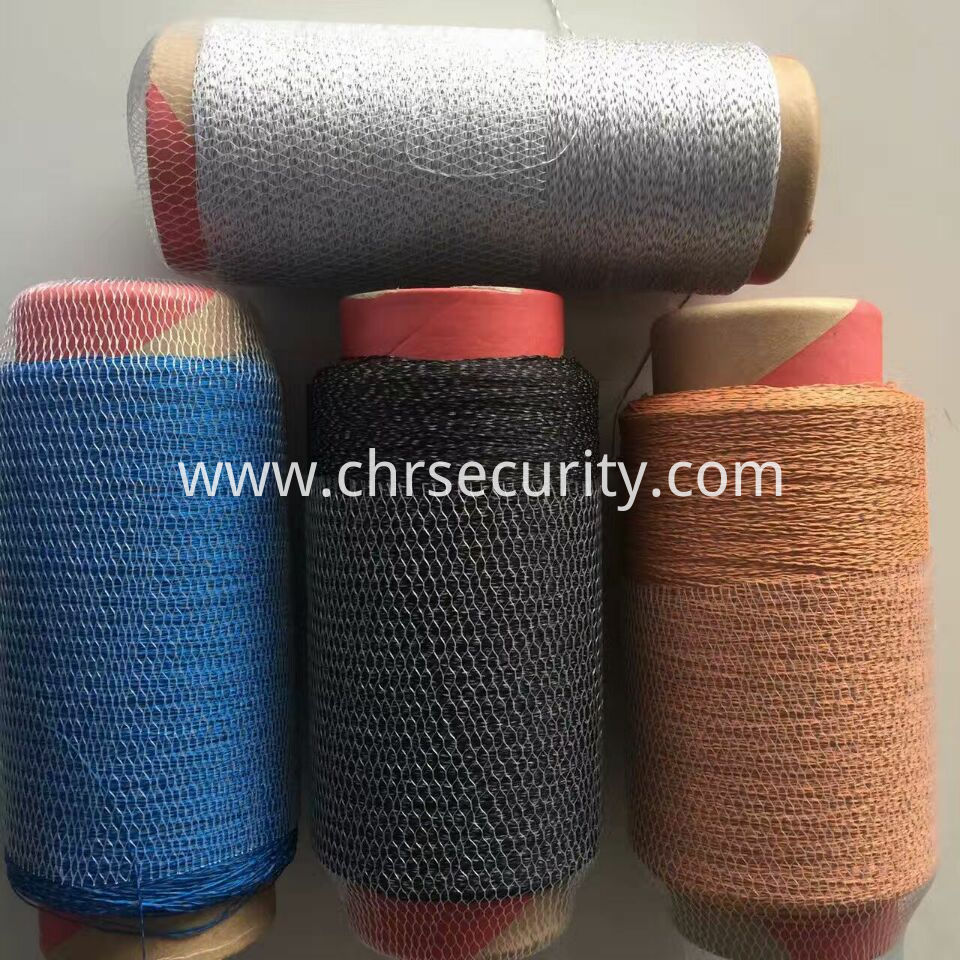 four colour reflective embroidery thread