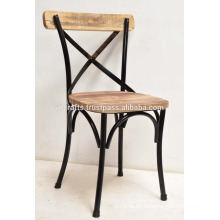 industrial wooden metal chair