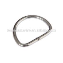 Moda de alta qualidade Metal Hardware soldado aço inoxidável D anel