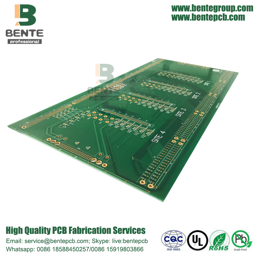 Quickturn PCB 4 couches PCB FR4 Tg135 ENIG 2u ""